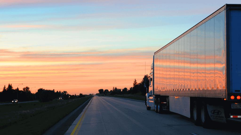 truck on Manitoba Highway
